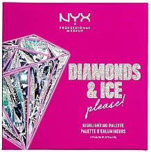 Kup Paleta rozświetlaczy - NYX Professional Makeup Diamonds & Ice Please Diamond Highlighting Palette Quad