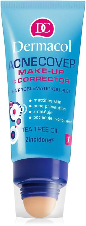 Podkład i korektor do skóry problematycznej - Dermacol Acnecover Make-Up and Corrector