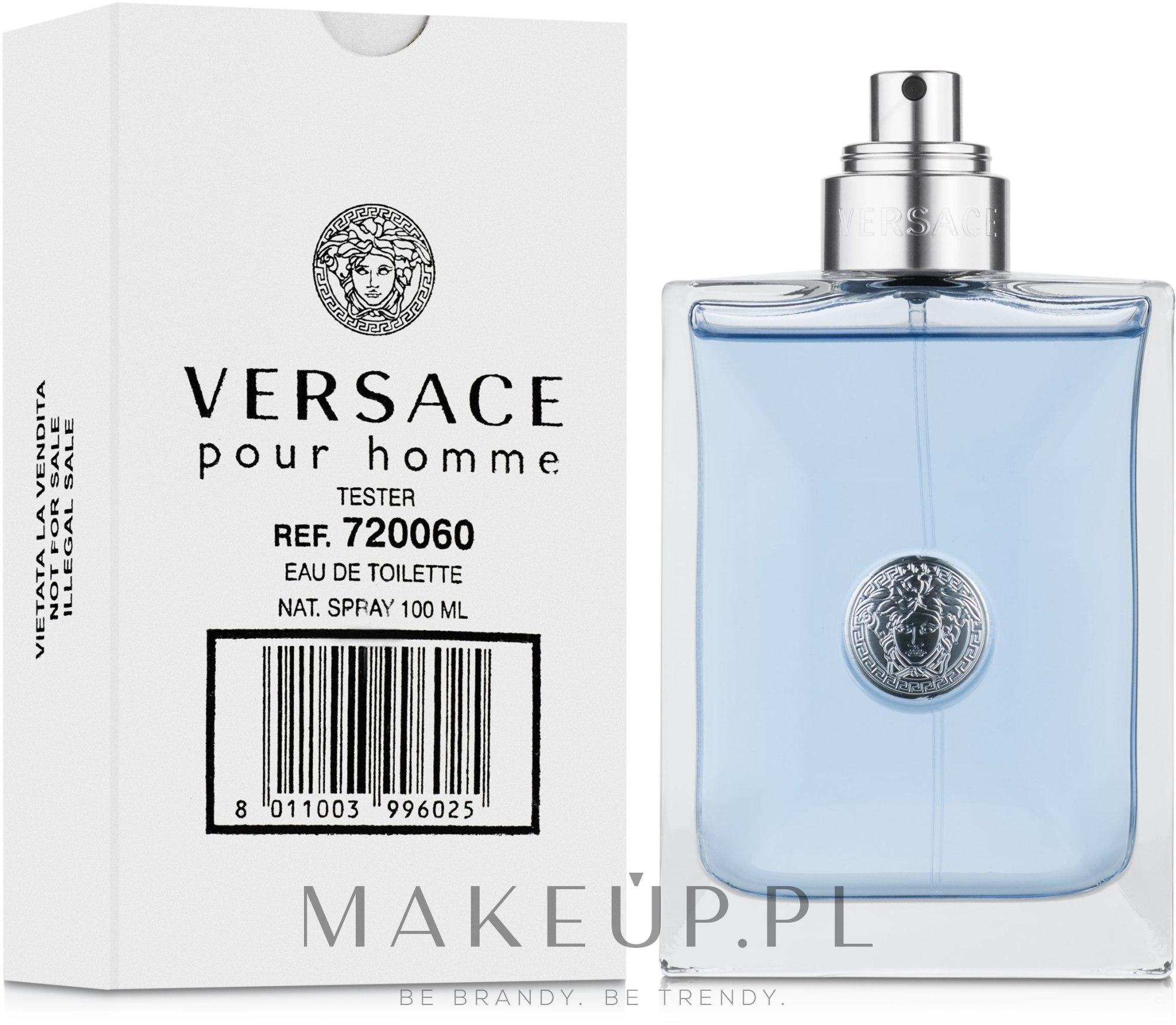 Versace Pour Homme - Woda toaletowa (tester bez nakrętki) — фото 100 ml