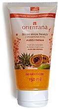 Kup Żel do mycia twarzy z drobinkami ryżu Aloes i papaja - Orientana
