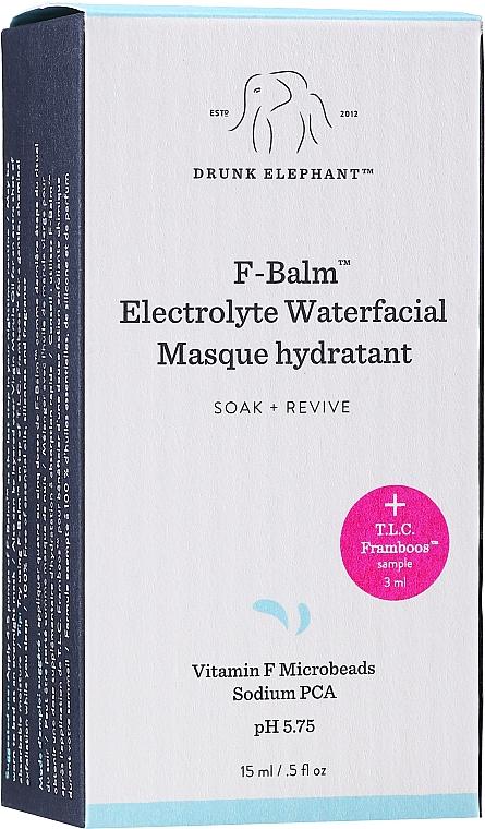 Zestaw - Drunk Elephant T.L.C. F-Balm Electrolyte Waterfacial Midi (mask 15 ml + ser 3 ml) — фото N2