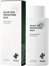 Nawilżające mleczko do twarzy i ciała SPF 50 PA++++ - Yadah Oh My Sun Protection Milk  — фото N2