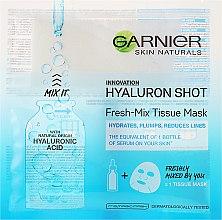 Kup Maska na tkaninie do twarzy z kwasem hialuronowym - Garnier Skin Naturals Fresh-Mix Tissue Mask With Hyaluronic Acid