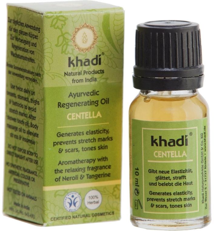 Ajurwedyjski olejek do ciała na rozstępy z wąkrotą azjatycką - Khadi Centella Ayurvedic Regenerating Oil — фото N3
