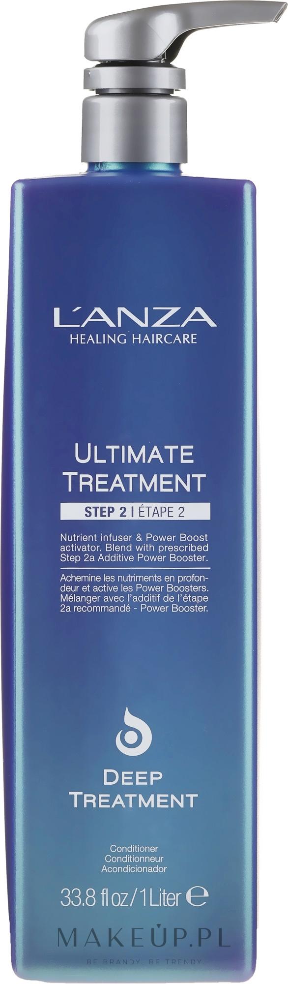 Regenerująca kuracja do włosów - Lanza Ultimate Treatment Step 2 Deep Treatment — фото 1000 ml