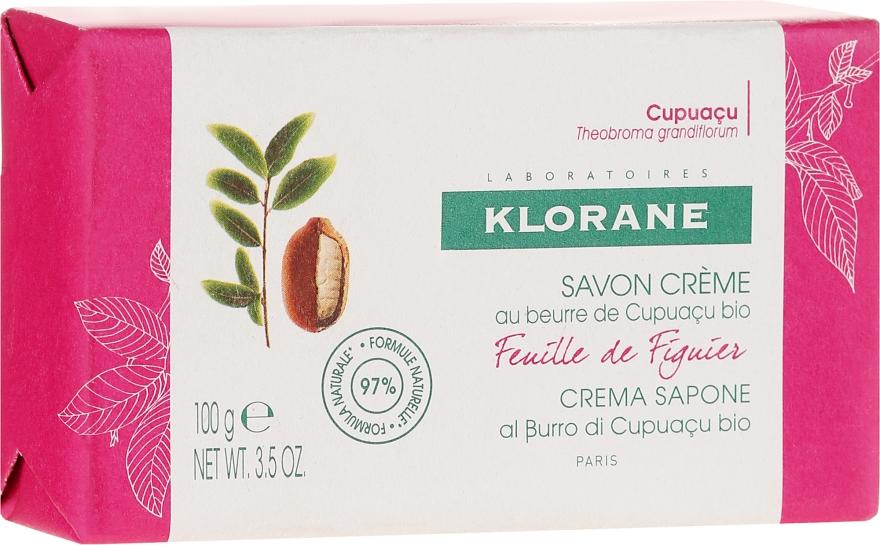 Mydło w kostce - Klorane Cupuacu Fig Leaf Cream Soap — фото N1