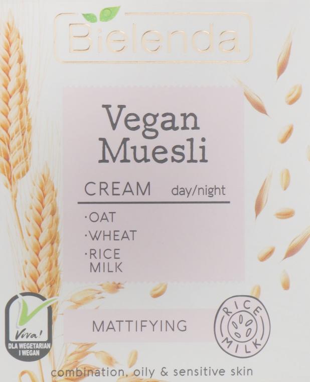 Matujący krem do twarzy - Bielenda Vegan Muesli Mattifying Day Night Cream