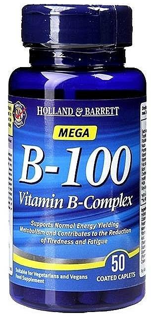 Witamina B-complex w kapsułkach - Holland & Barrett Mega B-100 Vitamin B Complex — фото N1