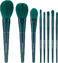 Kup Zestaw pędzli do makijażu, 8 szt. - Eigshow Beauty Jade Green Brush Kit With Bag