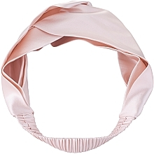 Kup Opaska do włosów z naturalnego jedwabiu, pudrowy róż Twist - Makeup
