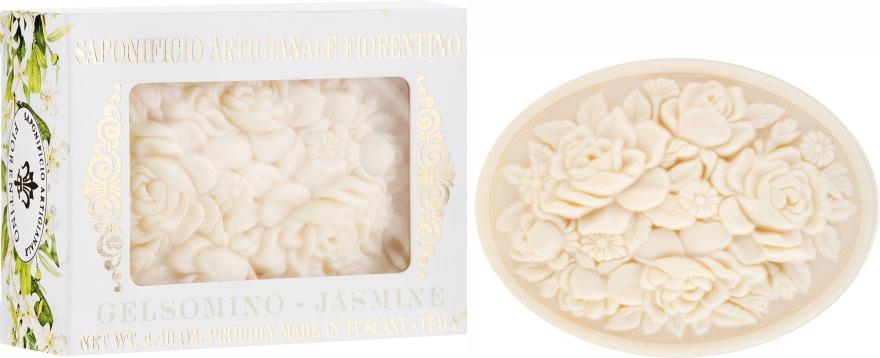 Mydło w kostce Jaśmin - Saponificio Artigianale Fiorentino Botticelli Jasmine Soap