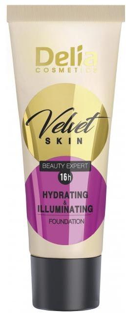 Nawilżająco-korygujący podkład w kremie - Delia Mineral Velvet Skin