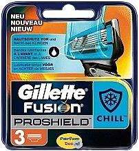 Wymienne wkłady do maszynki do golenia, 4 szt. - Gillette Fusion Proshield Chill — фото N3