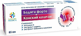 Kup Żel-balsam Badiaga forte i kasztanowiec - Natura Medica