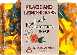 Kup Ręcznie robione mydło glicerynowe w kostce Brzoskwinia i trawa cytrynowa - Bulgarian Rose Peach & Lemongrass Soap