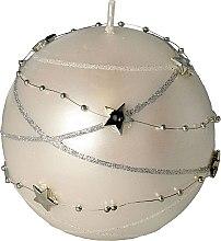 Kup Świeca dekoracyjna, 10 x 10 cm, biała - Artman Christmas Garland