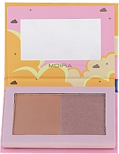 Kup Bronzer do twarzy - Moira Golden Rays Bronzed Goddess Duo