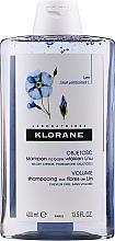 Kup Szampon na bazie włókien lnu do włosów cienkich - Klorane Shampoo With Flax Fiber