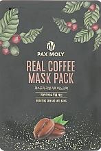 Kup Rozświetlająca kawowa maseczka przeciwstarzeniowa w płachcie do twarzy - Pax Moly Real Coffee Mask Pack