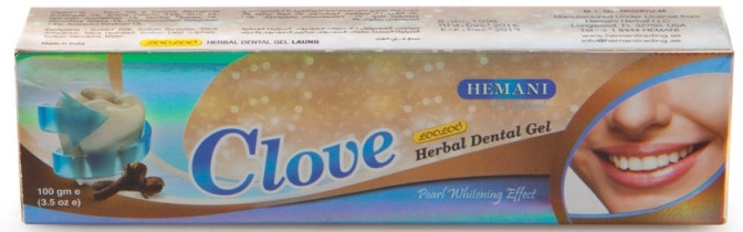 Ziołowy żel wybielający do zębów Goździk - Hemani Clove Herbal Dental Gel