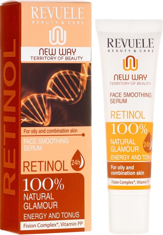 Wygładzające serum do skóry tłustej i mieszanej - Revuele Retinol Face Smoothing Serum For Oily And Combination Skin