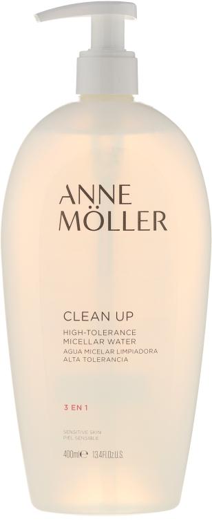 Płyn micelarny 3 w 1 do cery wrażliwej - Anne Moller Clean Up High-Tolerance Micellar Water — фото N1