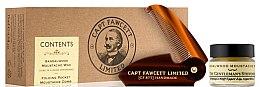 Zestaw - Captain Fawcett Sandalwood (moust/wax 15 ml + moust/comb) — фото N1
