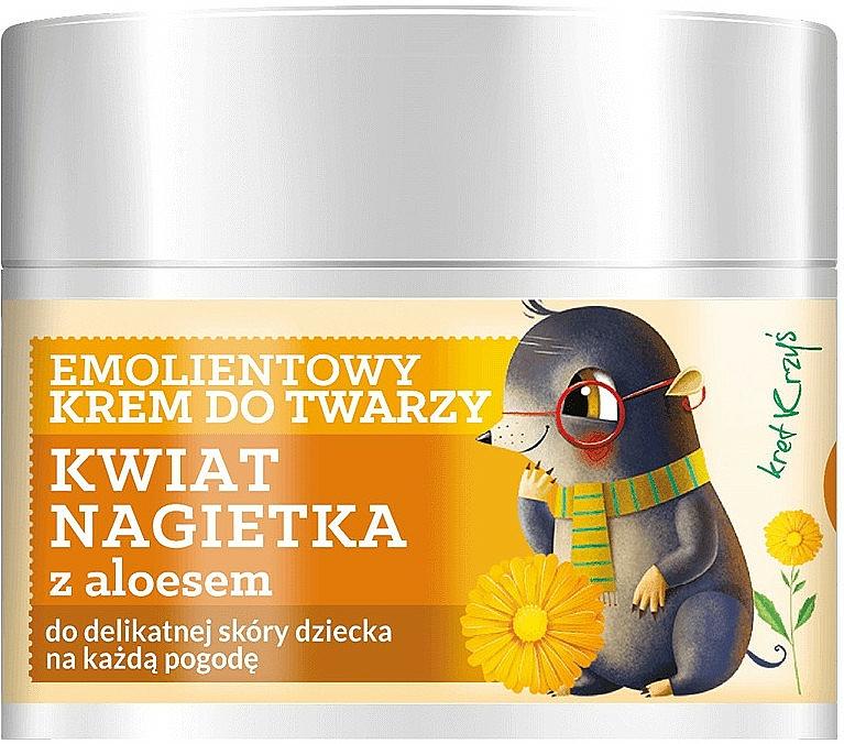Emolientowy krem do twarzy dla dzieci Kwiat nagietka - Farmona Herbal Care Kids