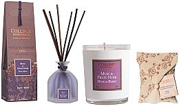 Kup Zestaw - Collines De Provence Musk And Berry (candle/75g + aroma/diffuser/100ml + sachet/1st)