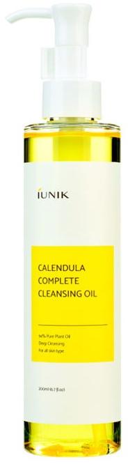 Olejek oczyszczający do twarzy z nagietkiem - IUNIK Calendula Complete Cleansing Oil