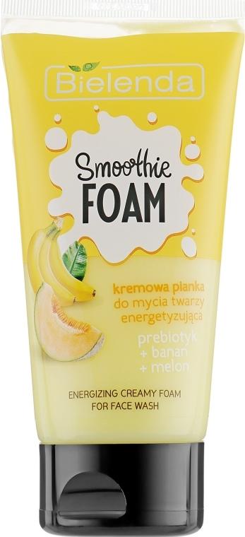 Energetyzująca kremowa pianka do mycia twarzy - Bielenda Smoothie Foam Banana And Melon