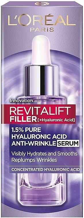 Przeciwzmarszczkowe serum z kwasem hialuronowym - L'Oreal Paris Revitalift Filler (ha)