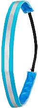 Kup Opaska do włosów z elementem odblaskowym, niebieska - IvyBands Neon Blue Reflective Hair Band