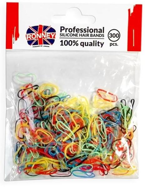 Silikonowe gumki do włosów, kolorowe - Ronney Professional Silicone Hair Bands