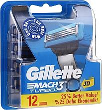 Kup Wymienne ostrza do maszynki, 12 szt. - Gillette Mach3 Turbo
