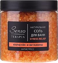 Kup Naturalna musująca sól do kąpieli Marakuja i witaminy - Senso Terapia Stress Relief Salt