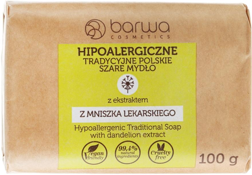Hipoalergiczne tradycyjne polskie szare mydło z ekstraktem z mniszka lekarskiego - Barwa
