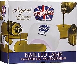 Kup Lampa LED do paznokci, czarna - Ronney Professional Agnes Pro LED 48W (GY-LED-032)