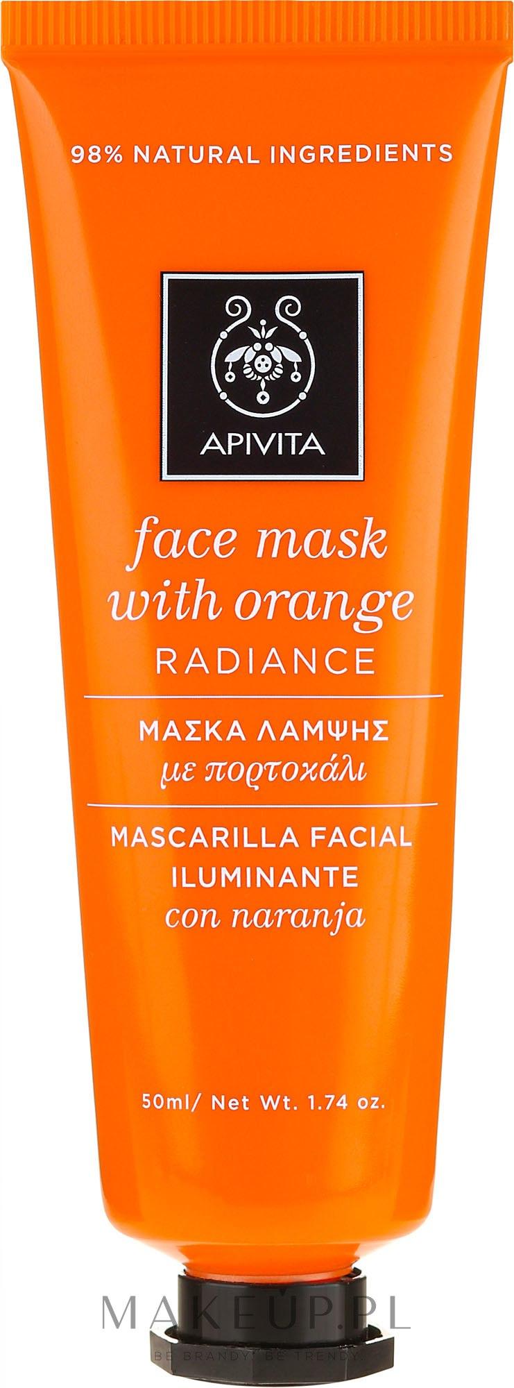 Rozświetlająca maska do twarzy Pomarańcza - Apivita Radiance Face Mask with Orange — фото 50 ml