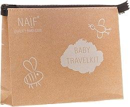 Kup Zestaw podróżny dla dzieci - Naif Baby Travel Kit (shm 15 ml + sh/gel 15 ml + lot 15 ml + cr 15 ml + bag)
