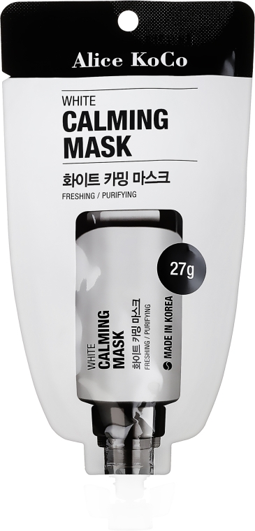 Biała maska łagodząca do twarzy - Alice KoCo White Calming Mask — фото N1