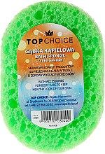Gąbka do kąpieli 30420, biało-zielona - Top Choice — фото N1