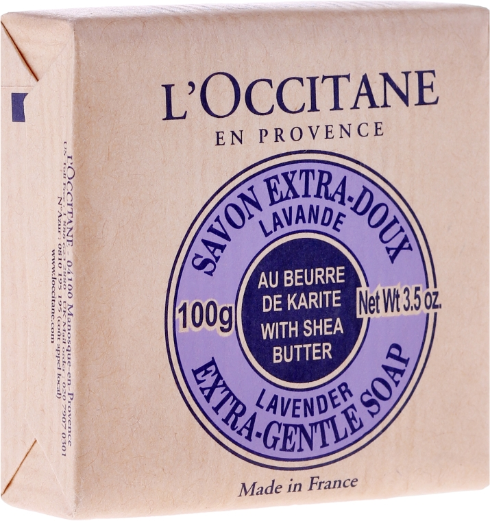 Lawendowe mydło Masło shea - L'Occitane Shea Butter Extra Gentle Soap-Lavender — фото N1