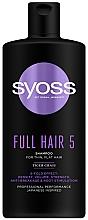 Kup Szampon z trawą tygrysią nadający objętość do cienkich włosów - Syoss Full Hair 5 Shampoo For Thin, Flat Hair Tiger Grass