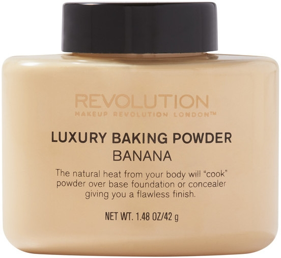 Mineralny sypki puder bananowy - Makeup Revolution Luxury Baking Powder Banana