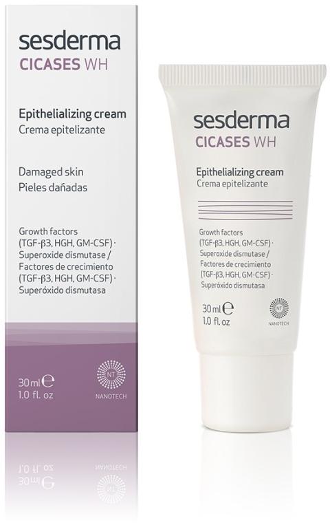 Krem przyspieszający gojenie dla uszkodzonej skóry - SesDerma Laboratories Cicases Wh Cream — фото N1