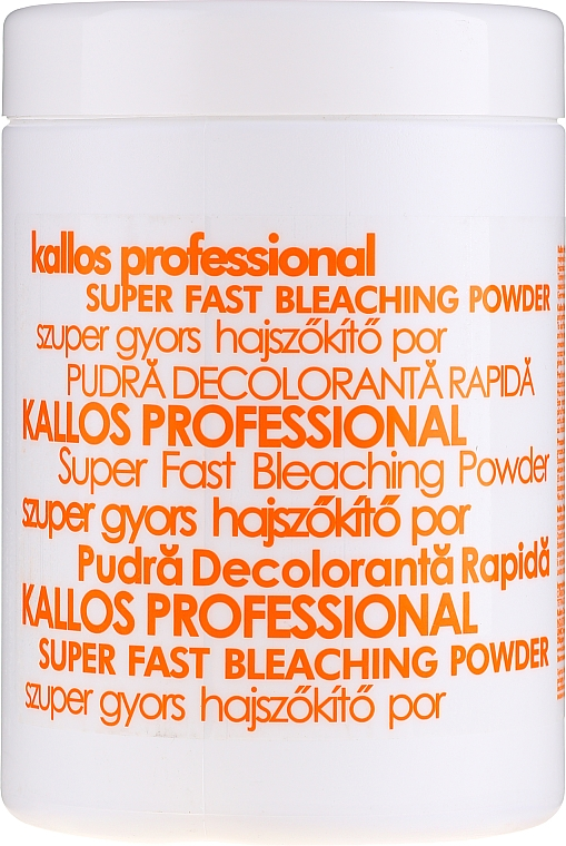 Proszek do wybielania włosów - Kallos Cosmetics Super Fast Bleaching Powder