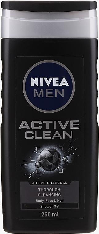 Zestaw - Nivea Men Active Care (sh/gel 250 ml + deo 150 ml) — фото N3