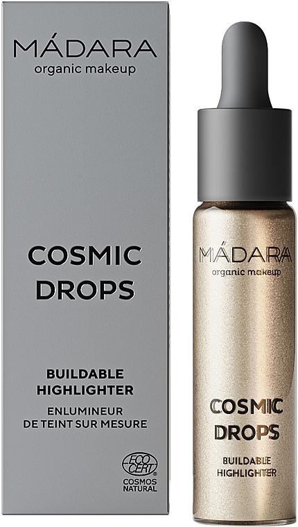 Rozświetlacz w płynie - Madara Cosmetics Cosmic Drops Buildable Highlighter — фото N1