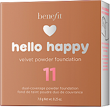 Podkład w pudrze do twarzy - Benefit Hello Happy Velvet Powder Foundation — фото N13